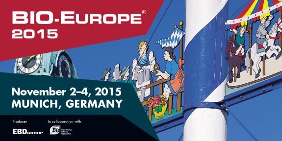 ▪ BIO-Europe 2015, November 2-4, Munich – Germany