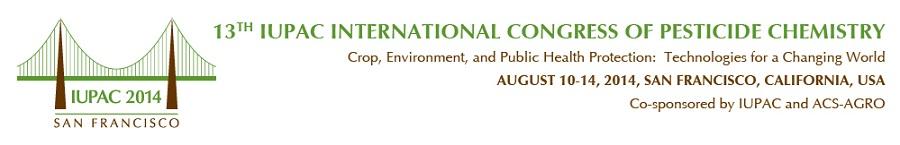 ▪ 13th IUPAC International Congress of Pesticide Chemistry, San Francisco – EEUU