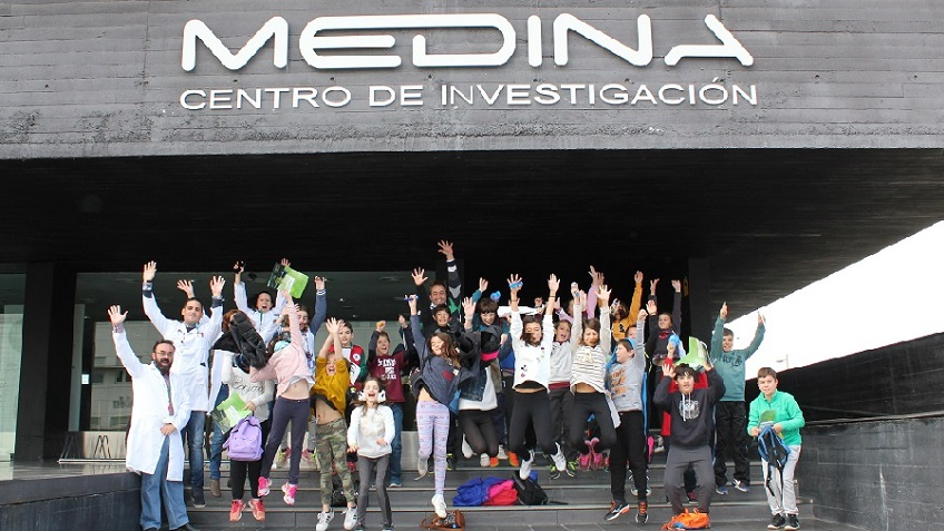 Alumnos del Colegio ALQUERIA visitan la Fundación MEDINA