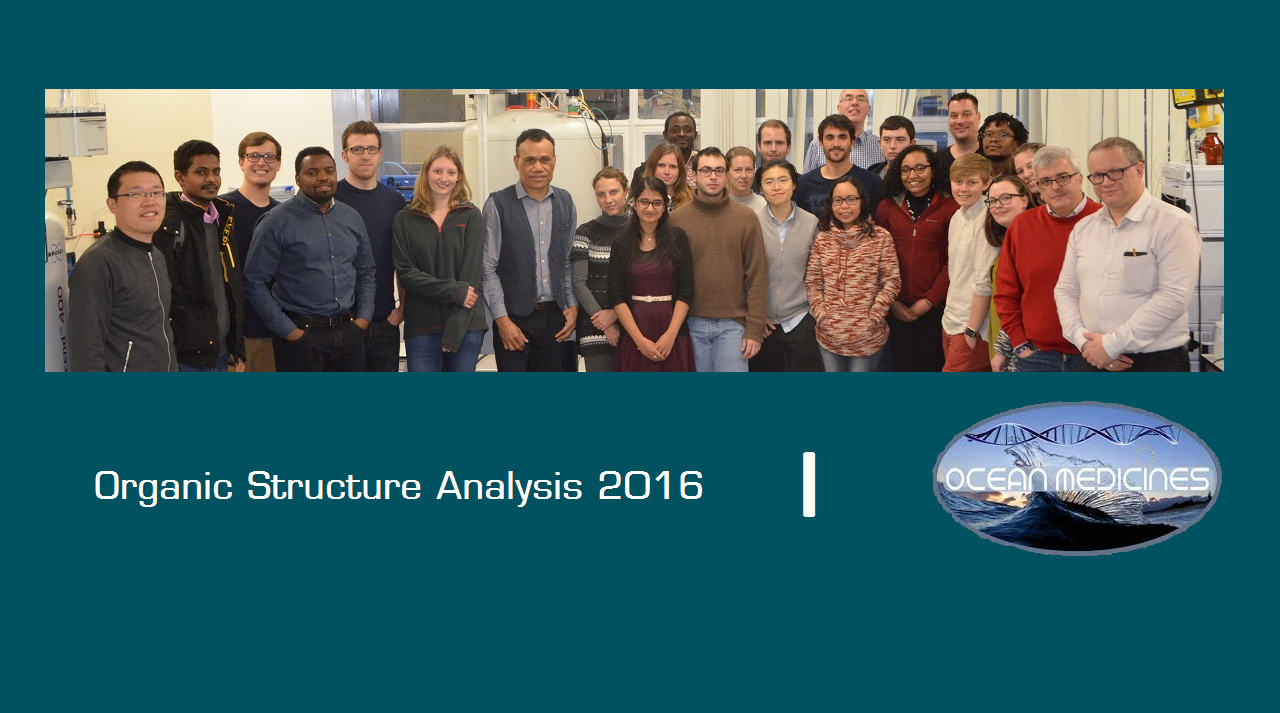 Organic Structure Analysis Course 2016, 5-7 December – Aberdeen