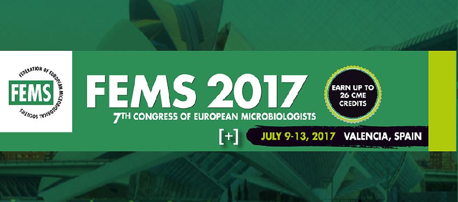 ▪ FEMS 2017, JULY 9-13 – Valencia – SPAIN