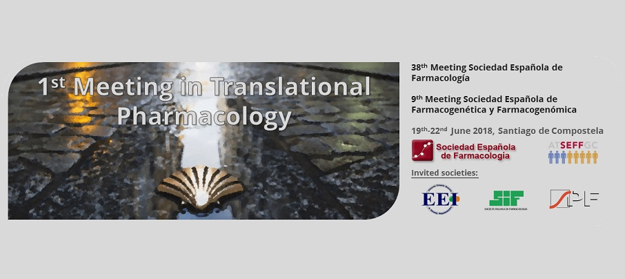 MEDINA at the 1st Meeting in Translational Pharmacology, 19-22 June, Santiago de Compostela