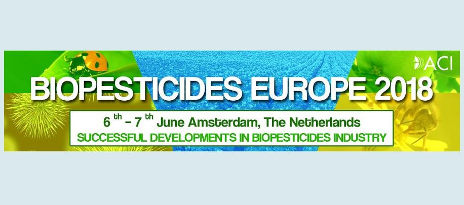 Biopesticides Europe 2018, 6-7 de Junio, Amsterdam – Países bajos