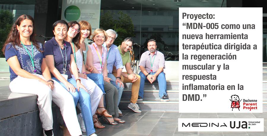 """Proyecto: """"MDN-0005 como una nueva herramienta terapéutica dirigida a la regeneración muscular y la respuesta inflamatoria en la DMD"""""""