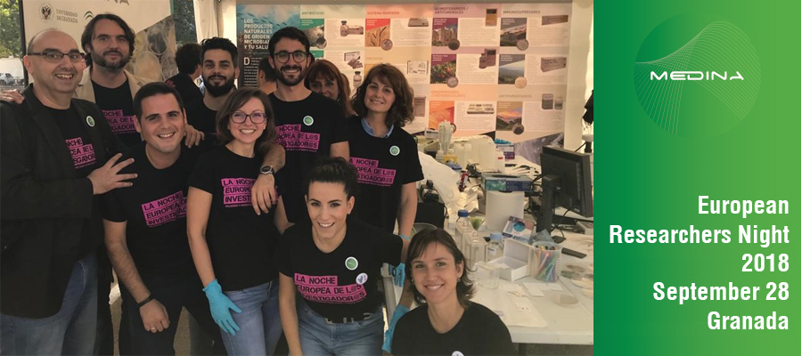 ▪ European Researcher Night 2018: Natural Products and human health, 28th of September – Granada, Spain