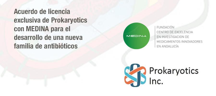 Anuncio del acuerdo de licencia exclusiva de Prokaryotics con MEDINA para el desarrollo de una nueva familia de antibióticos