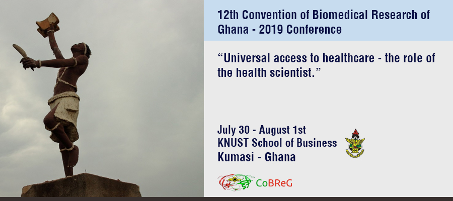 12th Convention of Biomedical Research of Ghana, 30 de Julio – 1 de Agosto, Kumasi – Ghana