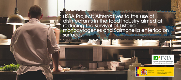 LISSA Project: Alternatives to the use of disinfectants in the food industry aimed at reducing the survival of Listeria monocytogenes and Salmonella enterica on surfaces.