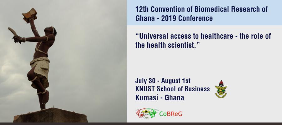 12th Convention of Biomedical Research of Ghana, 30 de Julio – 1 de Agosto, Kumasi – Ghana